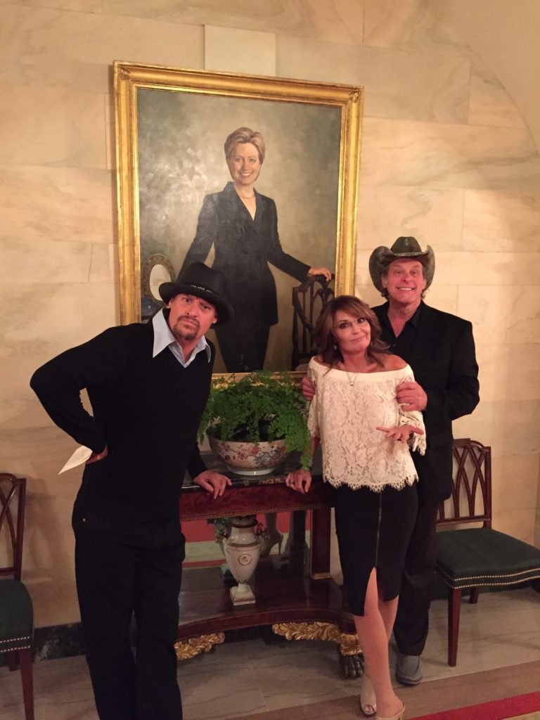 Photos: Nugent, Palin, Kid Rock Visit President Trump at White House